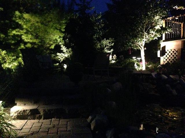 Landscape lighting backyard landscape lighting front yard
