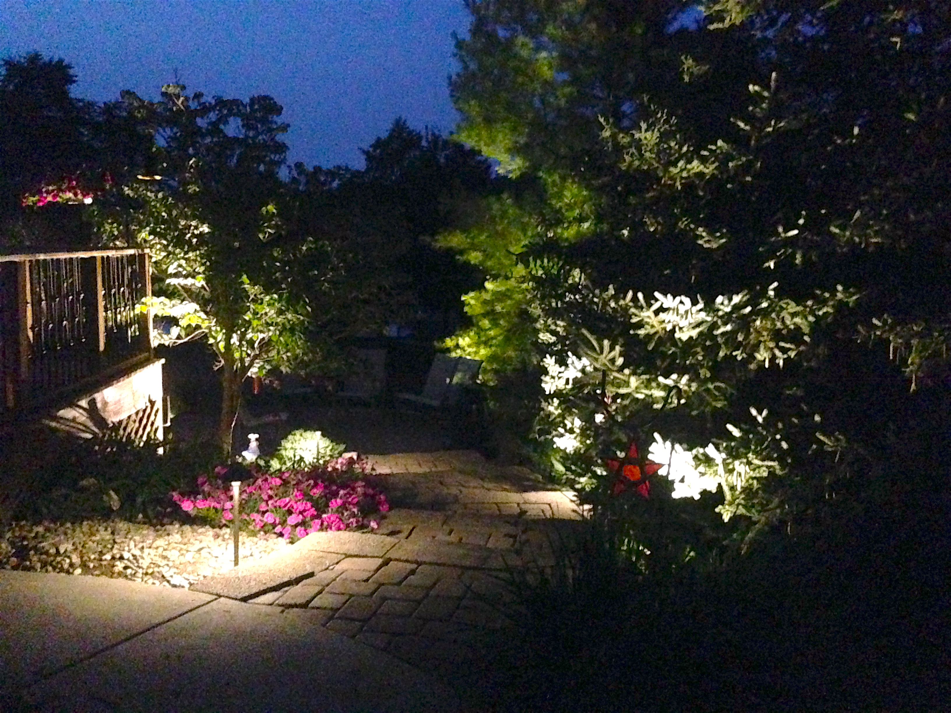 Outdoor lighting indianapolis landscape company all seasons motion sensing lights can increase the effectiveness of your lights as well and should be used in addition to standard lighting landscape services aloadofball Choice Image